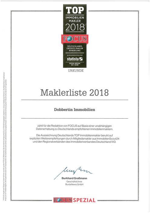 Auszeichnung Dobbertin Immobilien