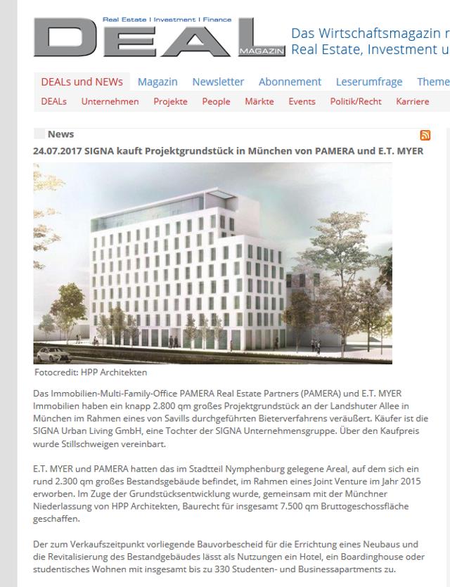 Pressemeldungen - E.T. MYER Immobilien GmbH