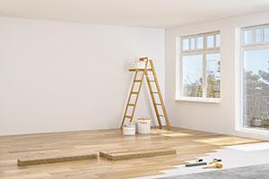 Wohnung bei Renovierung