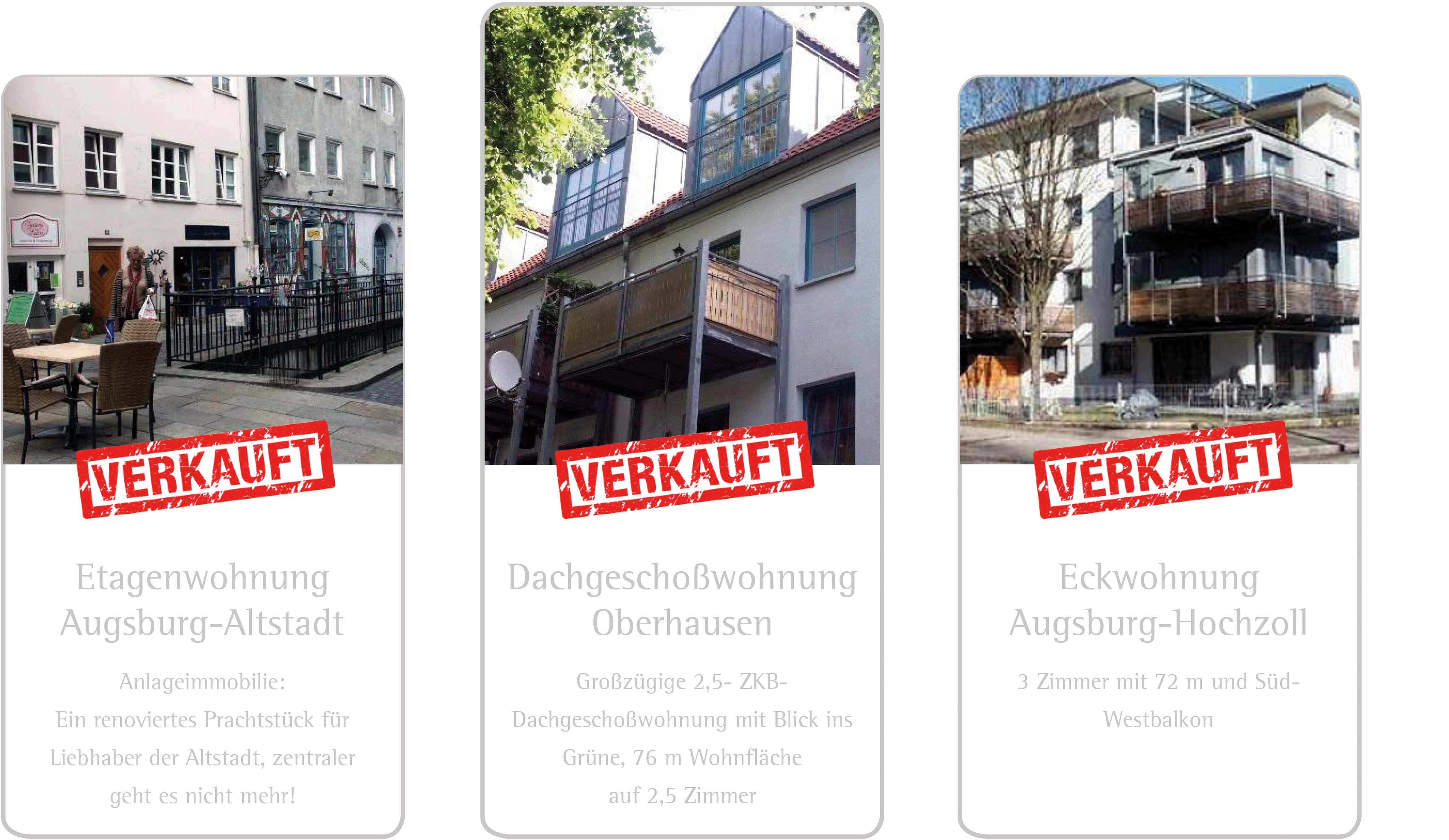 Verkaufte Referenzwohnungen