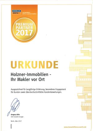 Scout Urkunde 2017