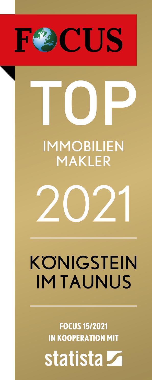 Auszeichnung Focus Top Immobilienmakler Königsstein im Taununs 2021