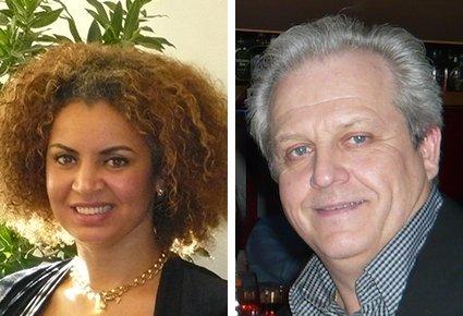 Immobilienmaklerin Mimouna Michel und Inhaber Huberti Michel