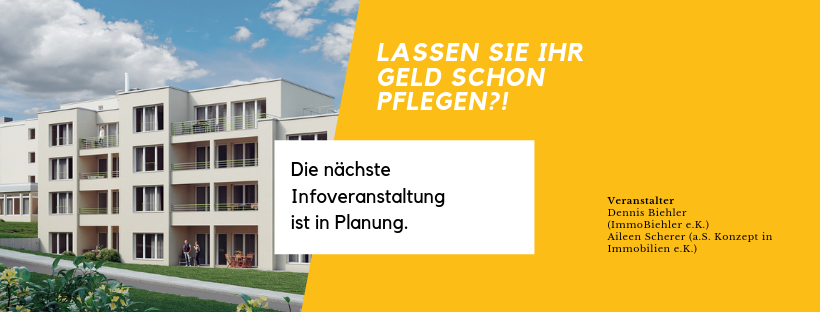 Flyer Infoveranstaltung ImmoBiehler
