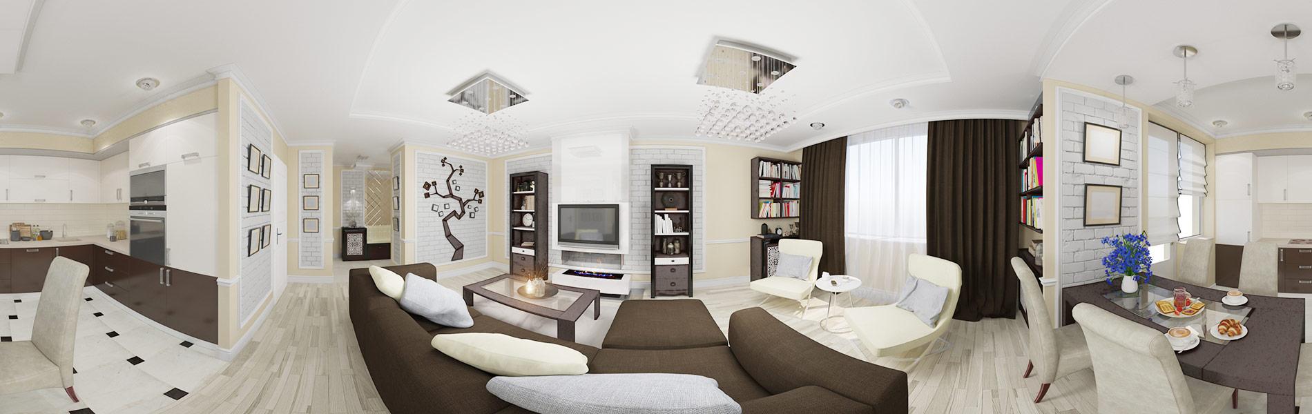 360 Grad Foto einer Wohnung