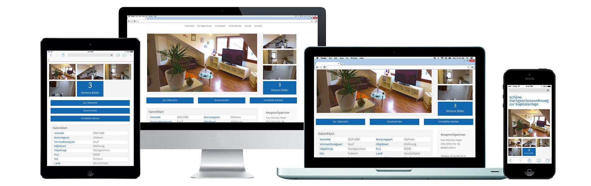 Mobile und Desktop Darstellung einer Website