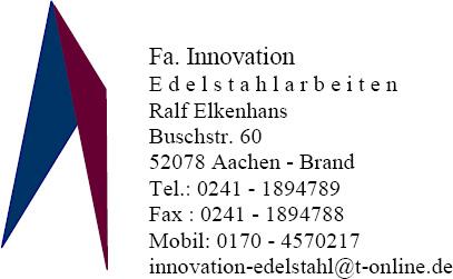 Ralf Elkenhans Innovation Edelstahlarbeiten & mehr