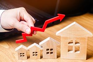 Wertsteigerung einer Immobilie als Miniatur