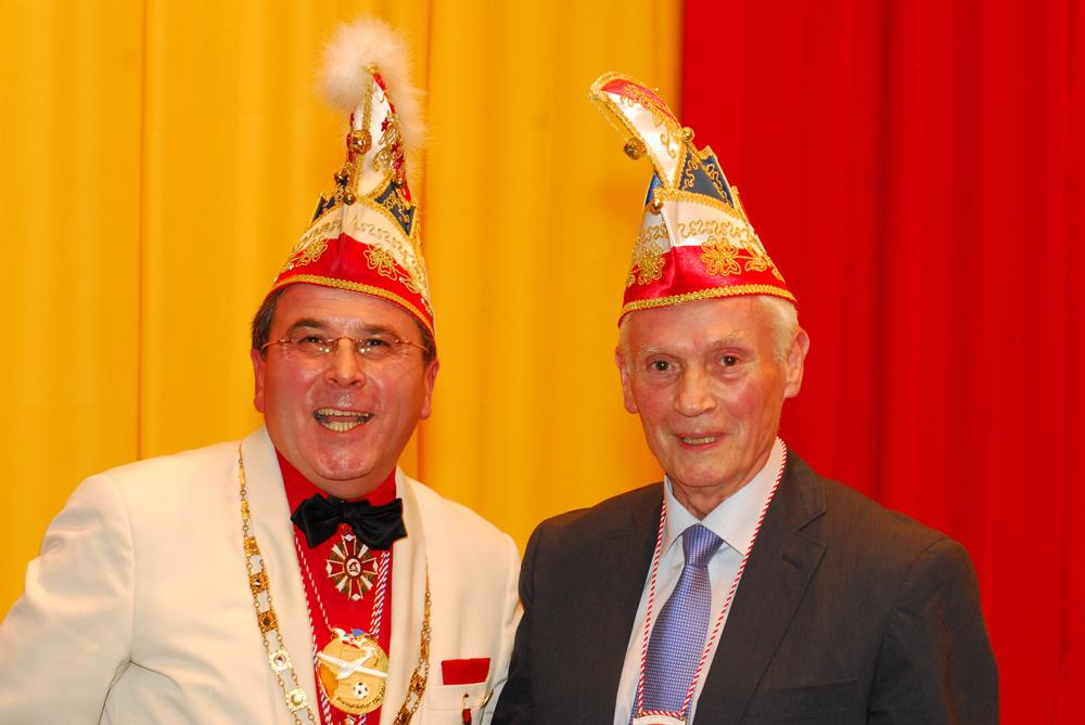 Hans Jürgen Kleinsteuber beim Karneval