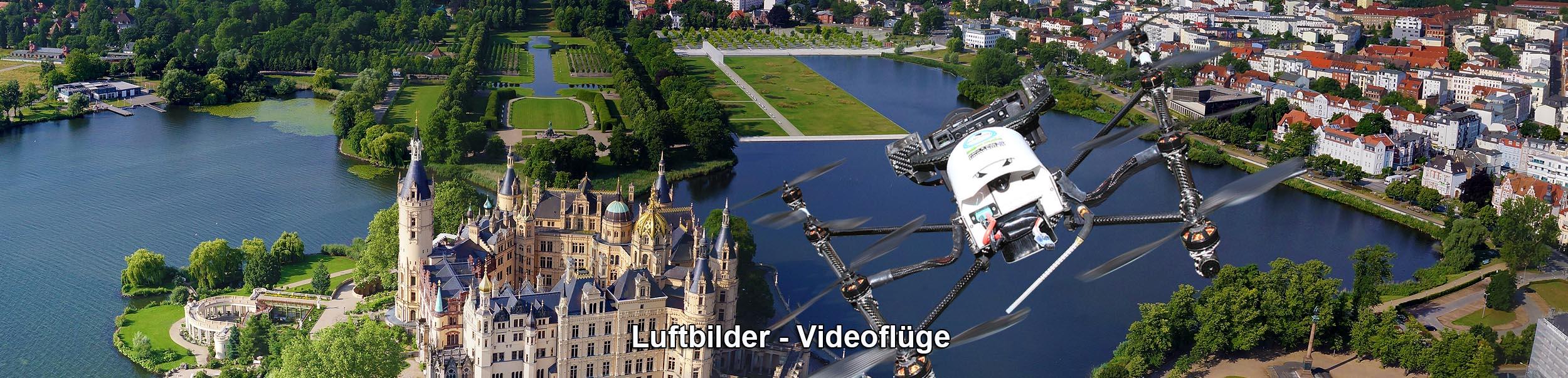 Drohne am schweriner Schloss