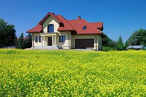 Einfamilienhaus mit rotem Dach