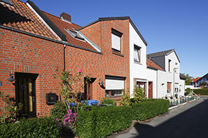 Doppelhaushälfte mit Vorgarten