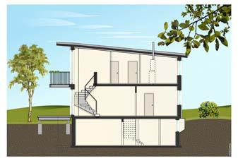 Modell Haus Schnitt