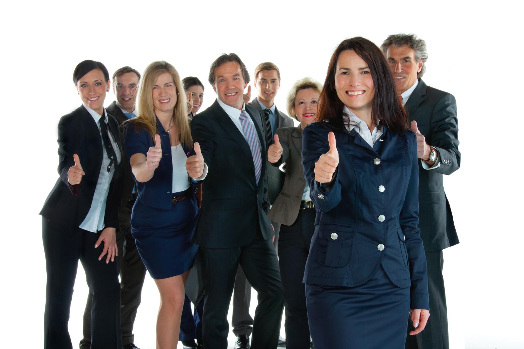 Zufriedenes Maklerteam
