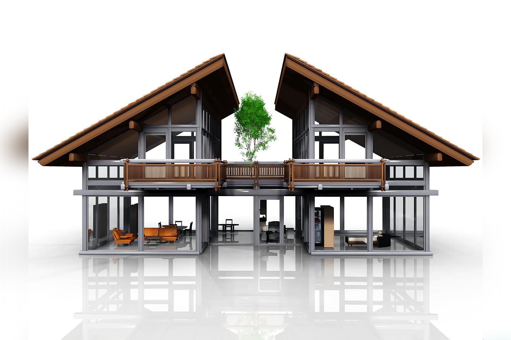 3D Modell Einfamilienhaus