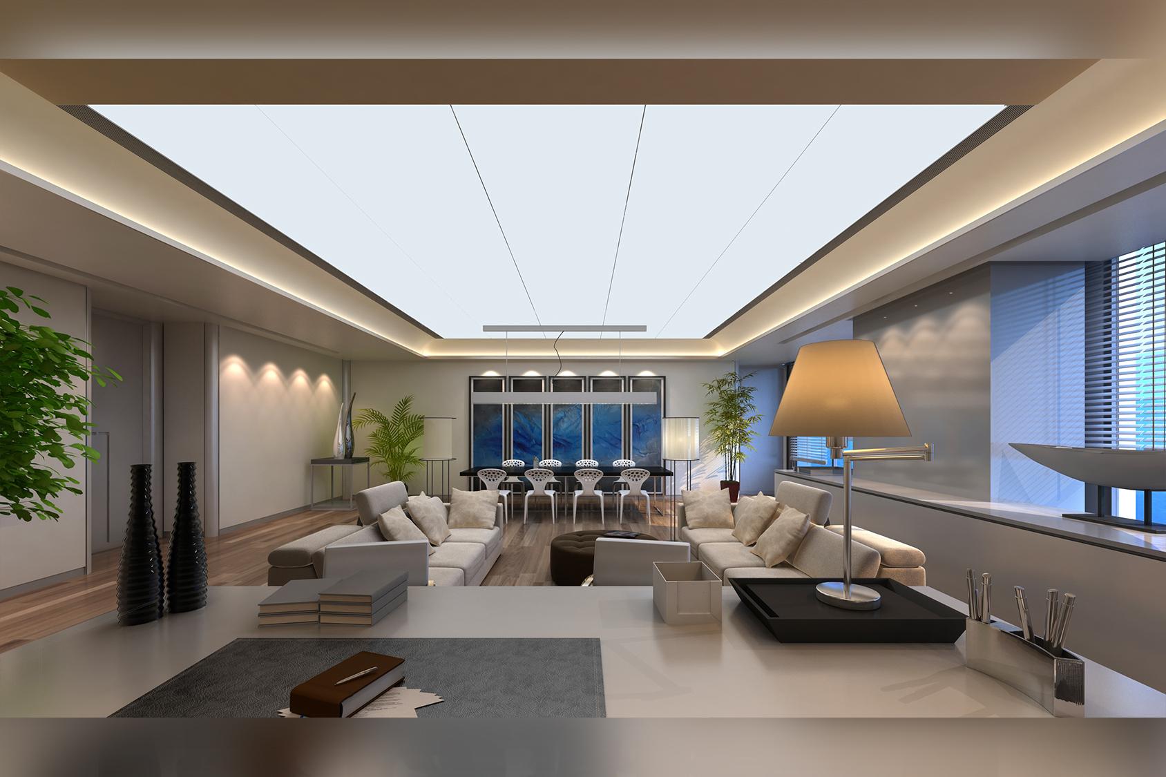 Moderne Wohnung in virtueller Besichtigung