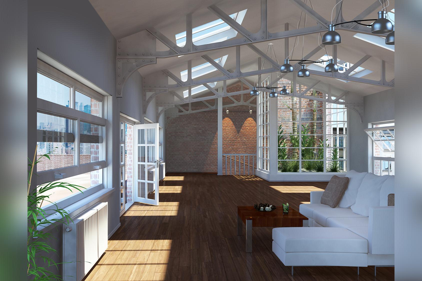 Große moderne Wohnung