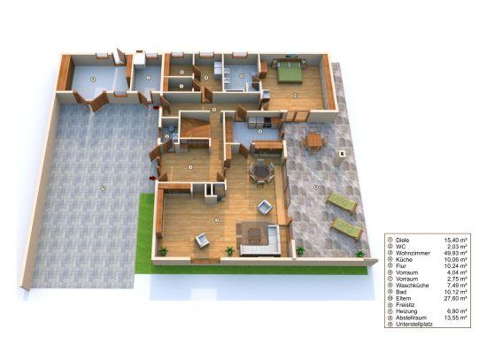3D Grundriss modern