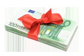 Block 100 € Scheine mit Schleife