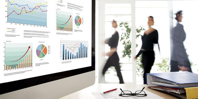 Büro-Pc mit Graphen