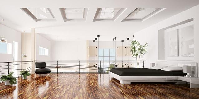 Schlafzimmer in Maisonette-Wohnung