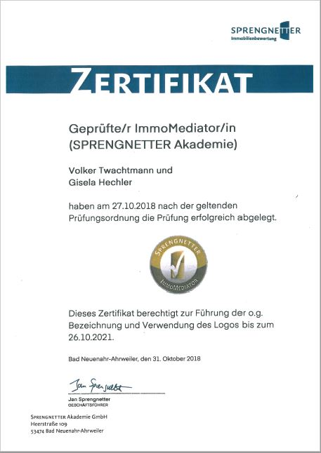 Sprengnetter Zertifikat