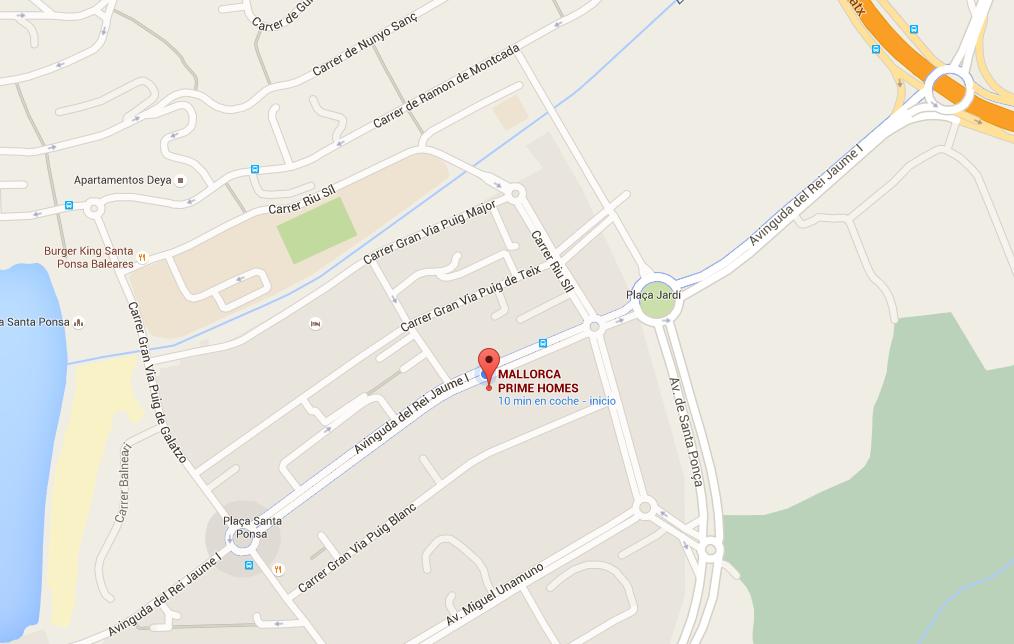 Google Maps Standort in Santa Ponsa