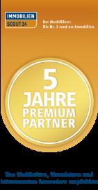 Logo Immoscout 5 Jahre Premium Partner
