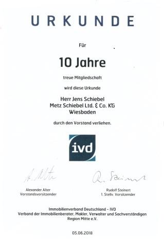 Urkunde Jens Schiebel