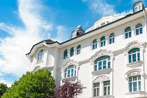 Stuckfassade eines Hauses in München