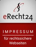 eRecht24 Siegel zum Impressum