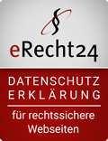 eRecht24 Siegel zum Datenschutz