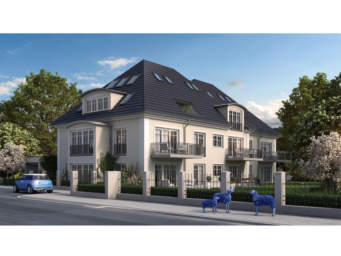 Randering Mehrfamilienhaus Solln