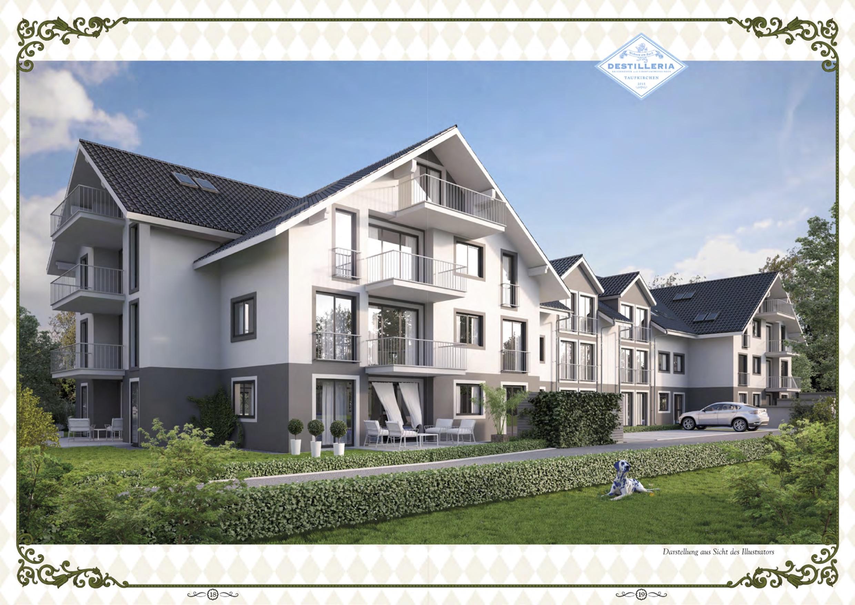 Randering Mehrfamilienhaus Taufkirchen