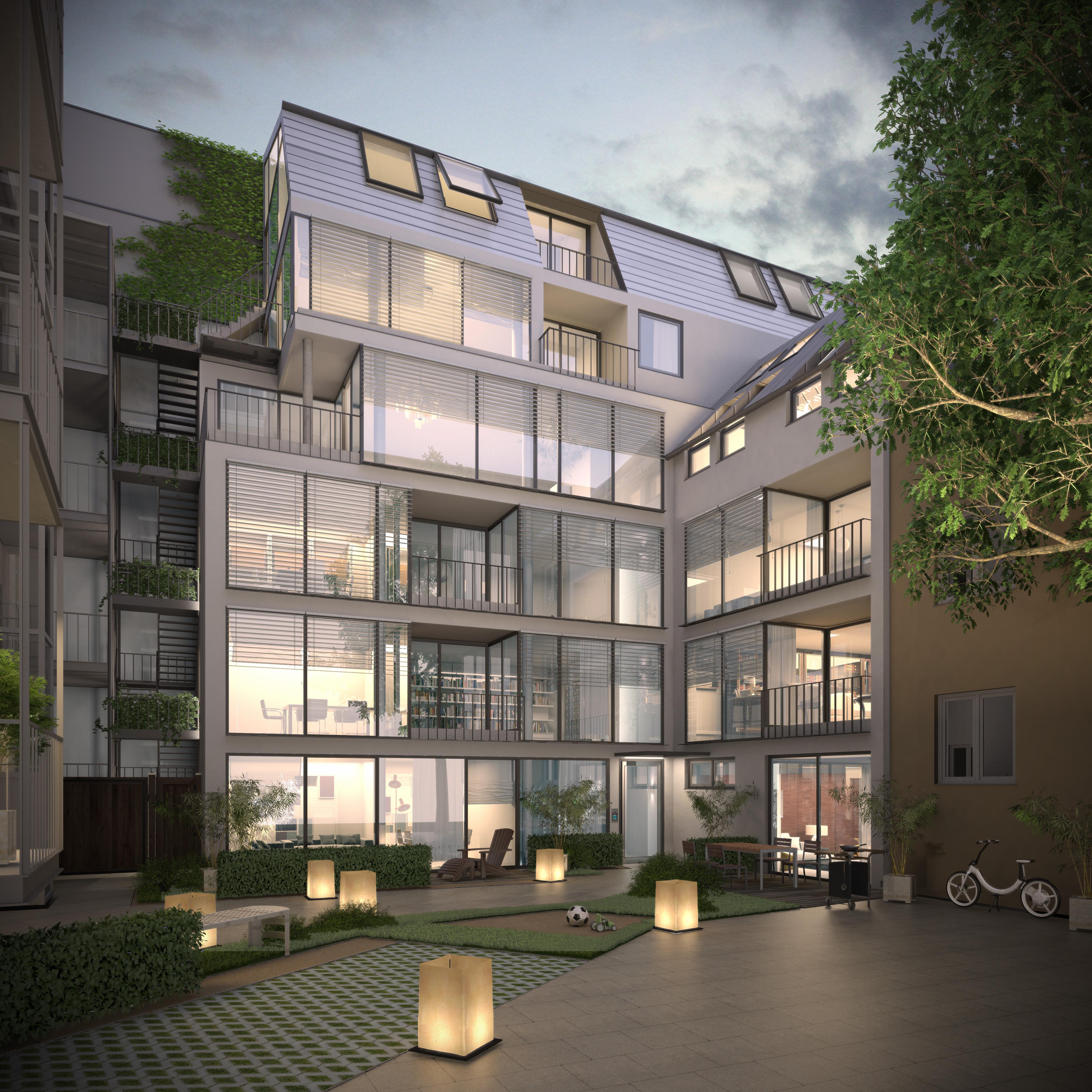 Randering Mehrfamilienhaus Walchenseeplatz
