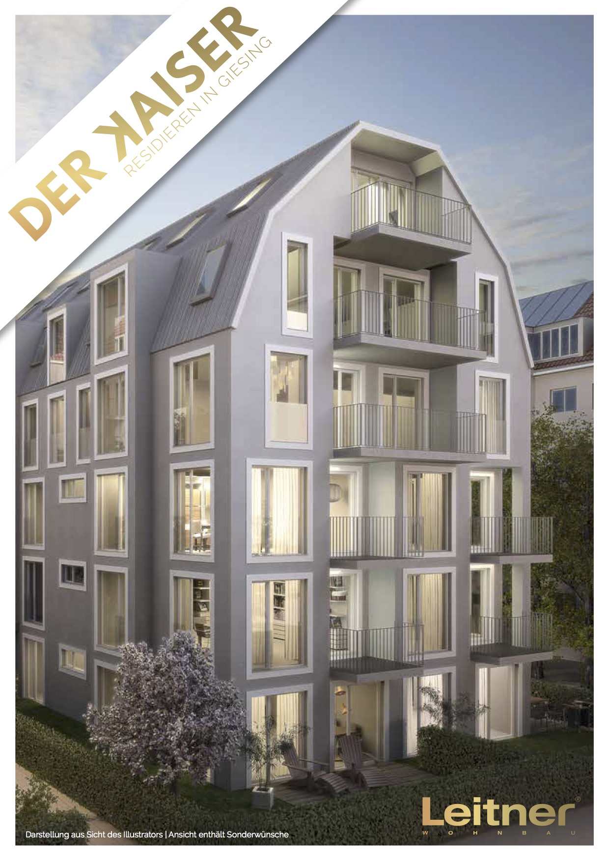 Randering Mehrfamilienhaus Heimgartenstraße