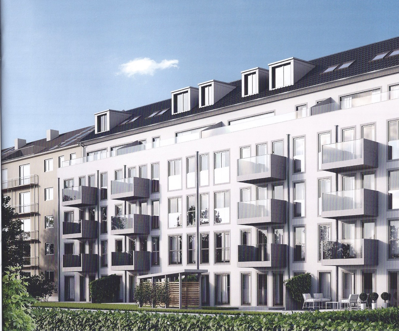 Randering Mehrfamilienhaus Schwabing
