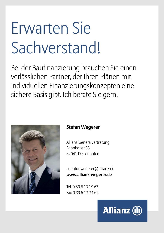 Fler der Allianz Baufinanzierung, Vertretung Allianz Wegerer Deisenhofen
