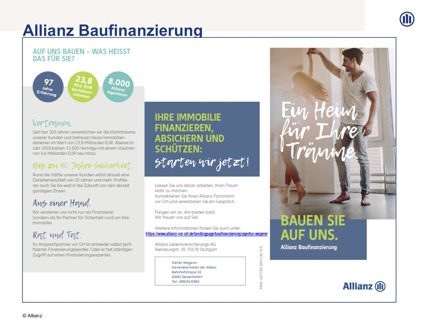 Allianz Flyer Finanzierung
