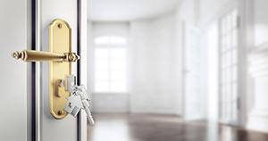 Haustür mit Schlüssel