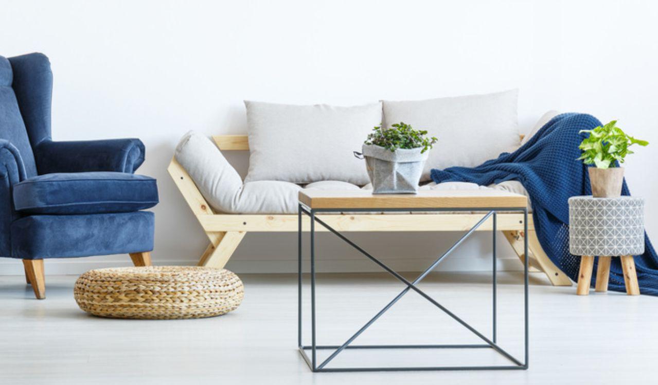 Einrichtung helle Wohnung mit Home-Staging