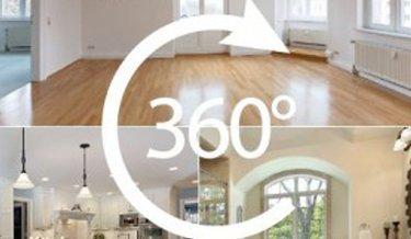Ausschnitte verschiedener Wohnbereiche durch 360° Vermarktung