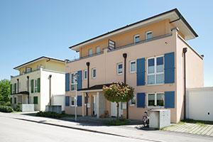 Doppelhaus mit Flachdach