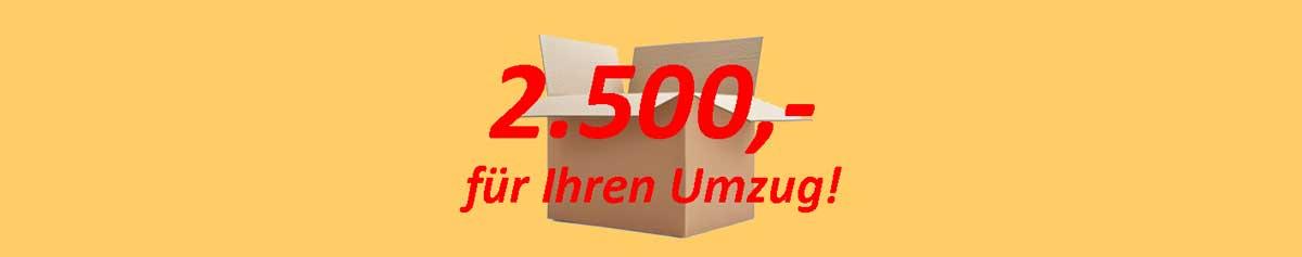 Aktion Umzug 2500 Euro