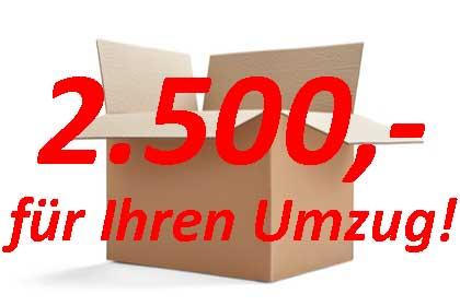 Umzug Aktion 2.500,- EURO
