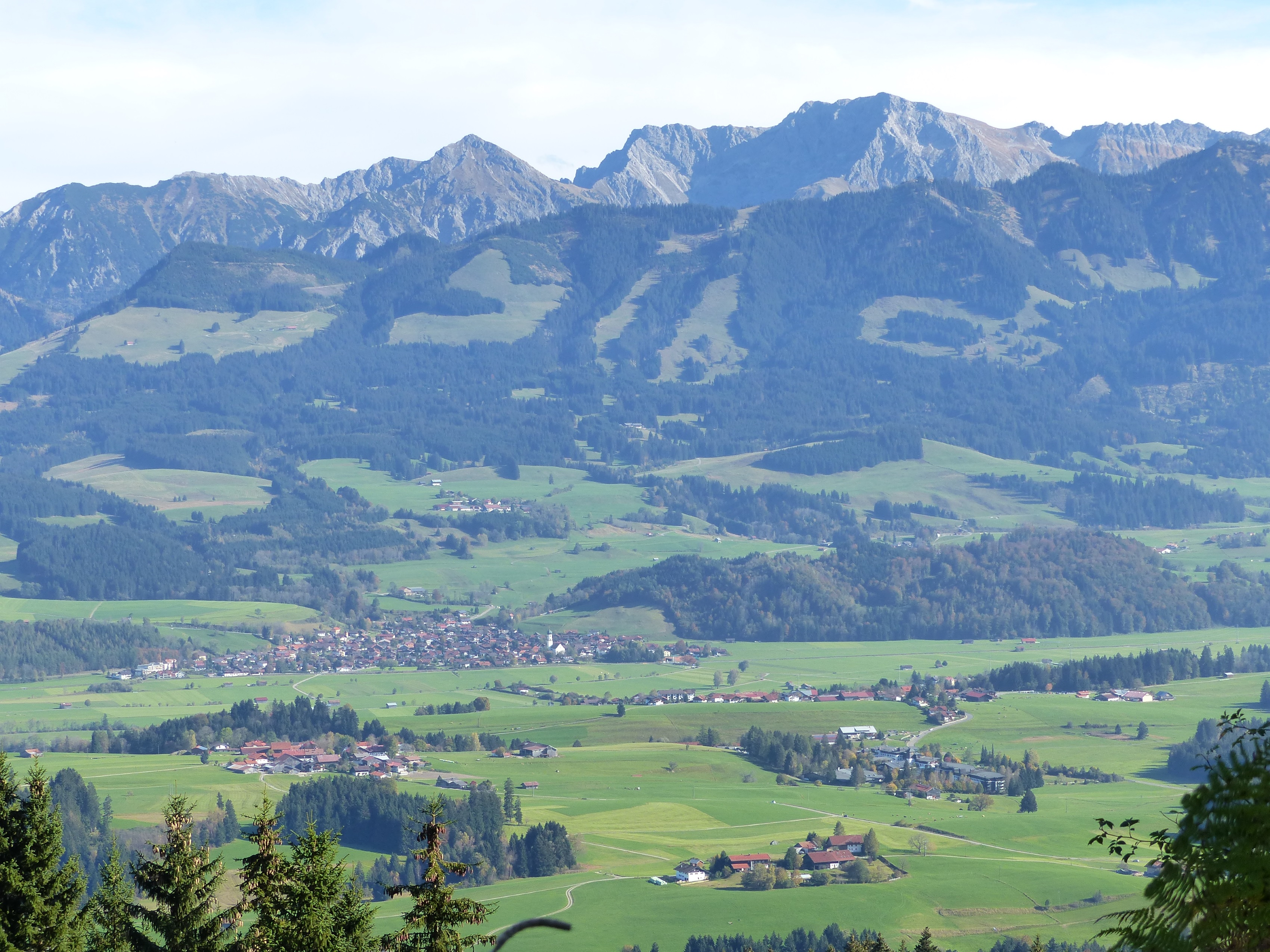 Blick in Tal Allgäu