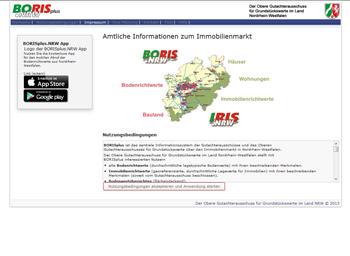 Boris - Amtliche Informationen zum Immobilienmarkt