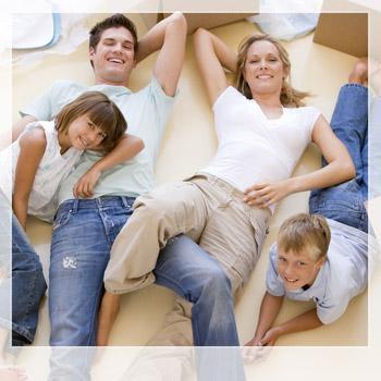 Familienfoto von oben