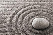 Stein in Sand