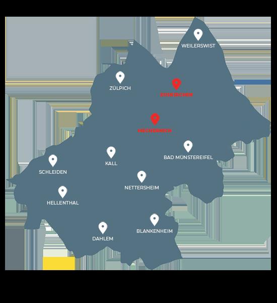 Unsere Hauptstandorte in Euskirchen und Mechernich | SFimmo